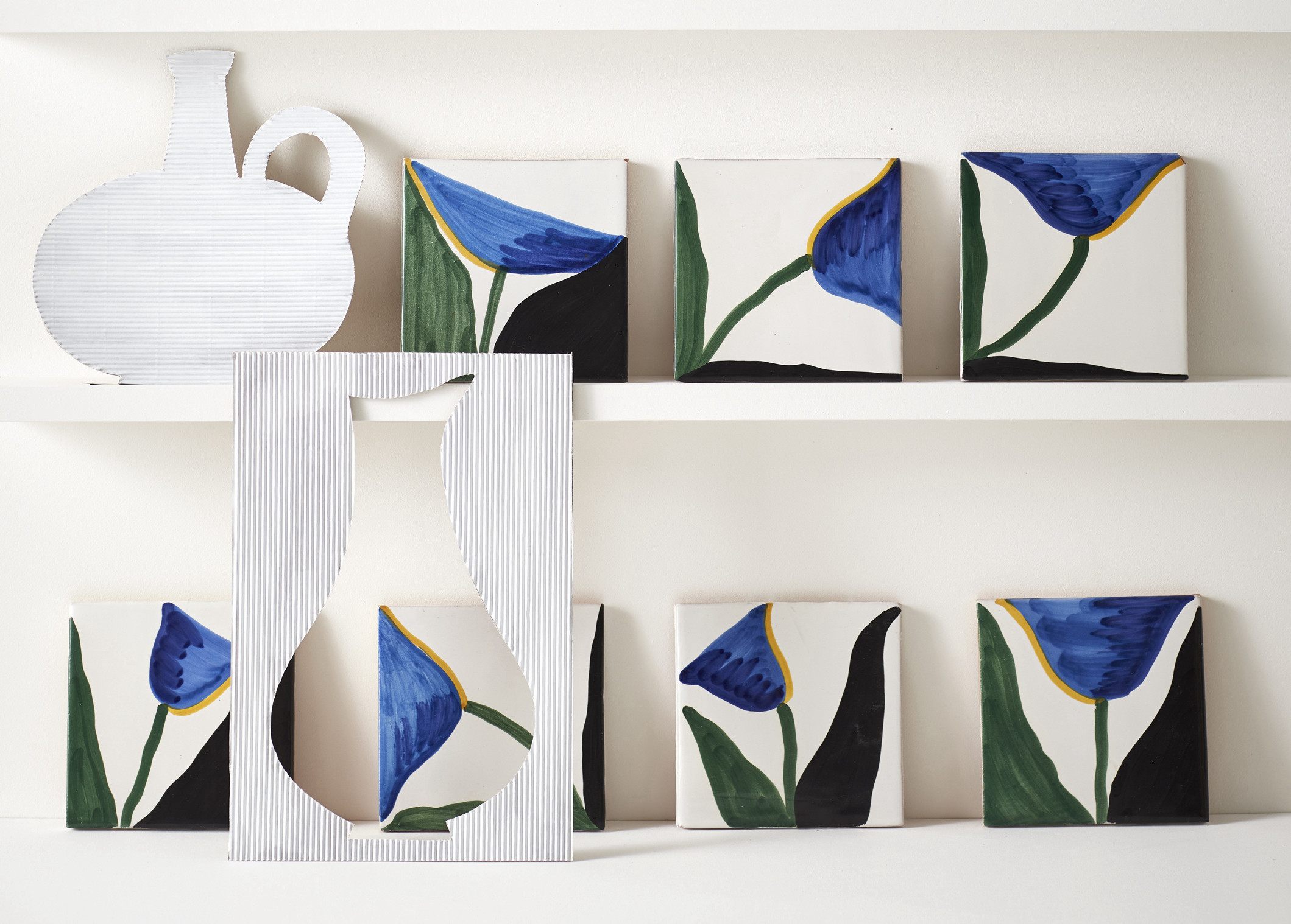 The Wayne Pate Collection of Hand-Painted Tiles from Balineum