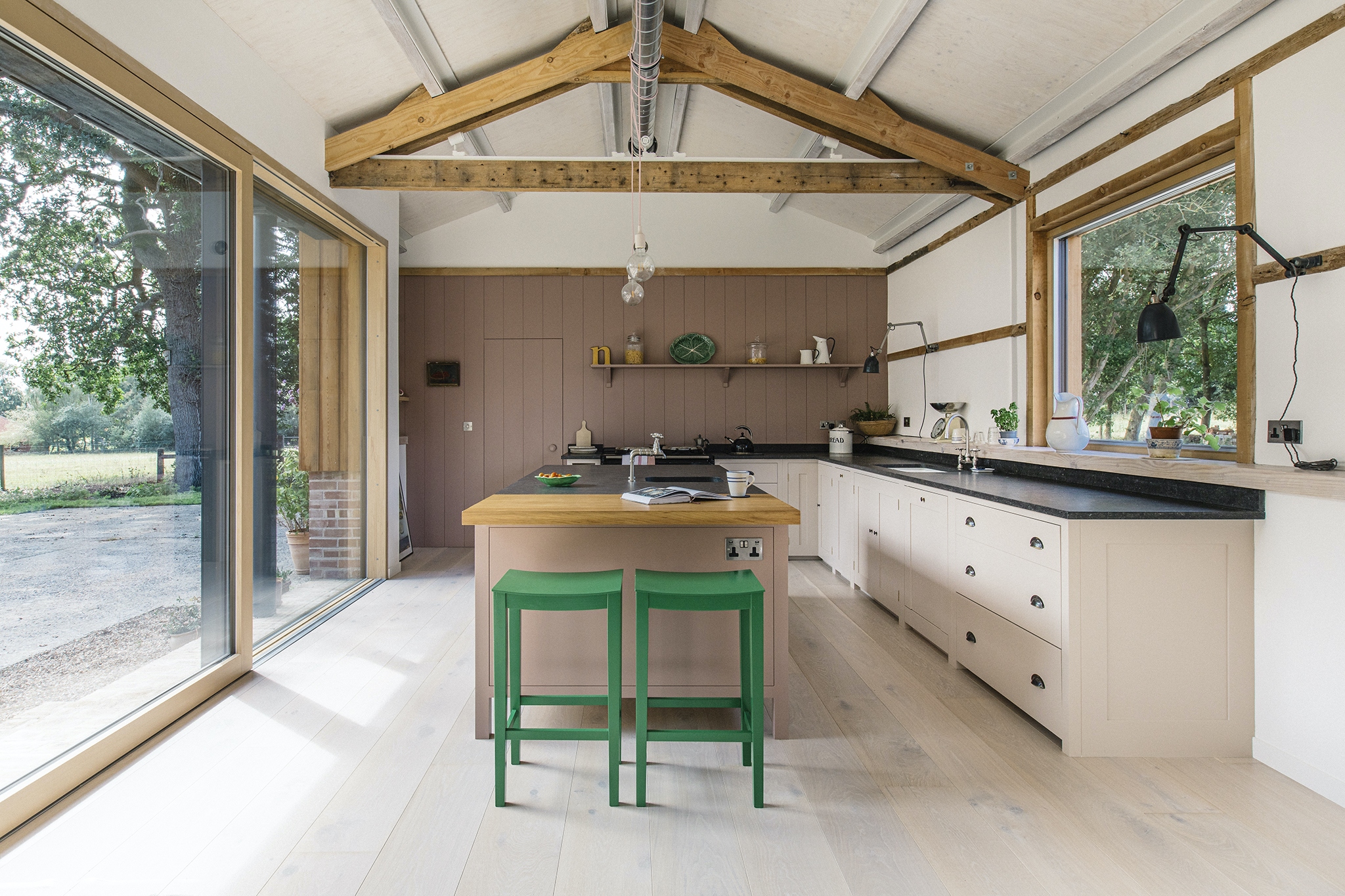 An Artful Plain English Kitchen Design in a Converted Barn