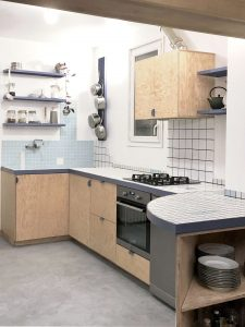 A Kitchen Built from Surplus Tiles