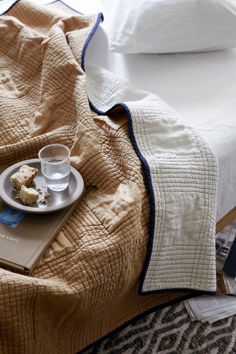 Mathilde: Minimalist Linen Quilts, Made in Rhode Island